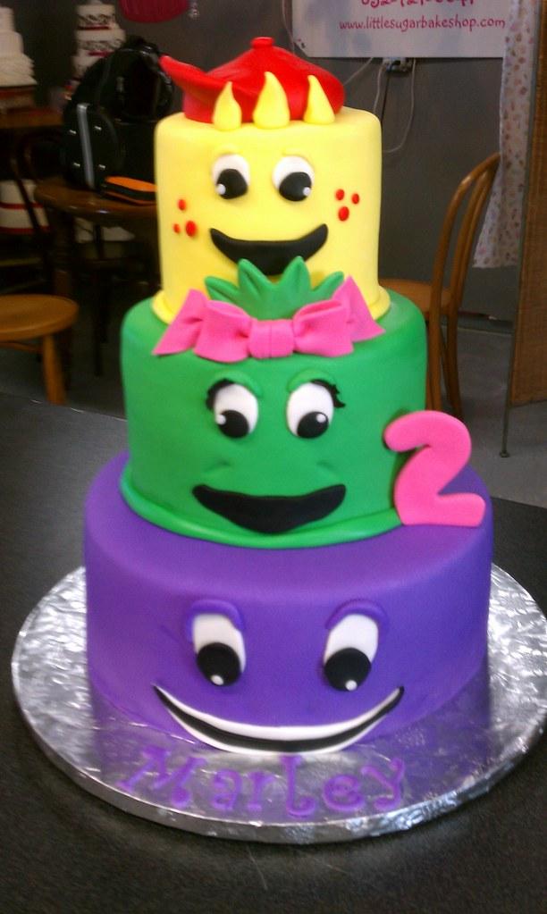 Barney Theme Birthday Cake Clarissa Lopez Flickr