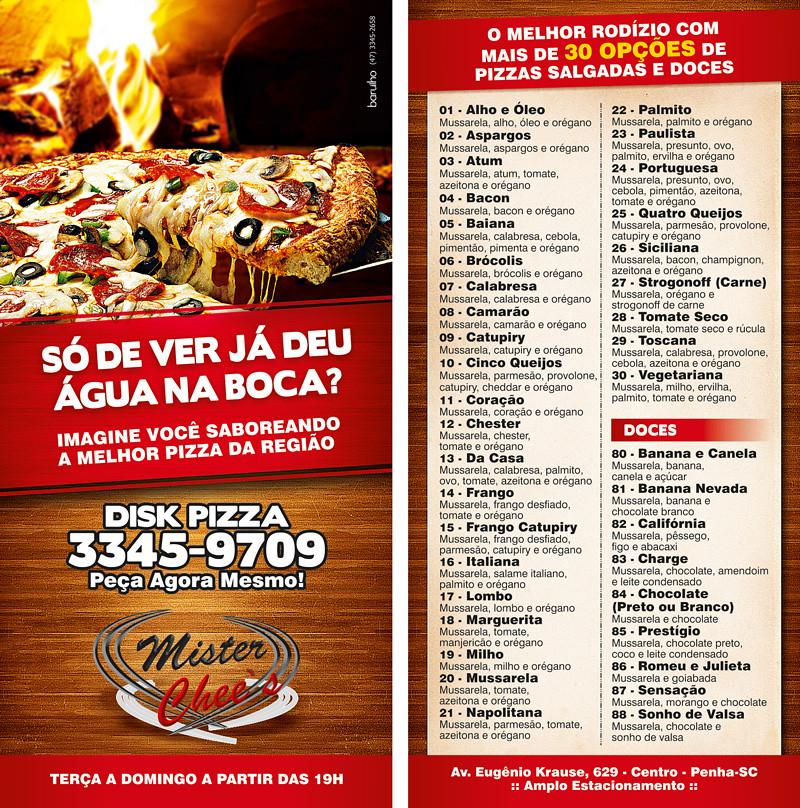flyer pizzaria mister chee s flyer cardápio para pizza flickr