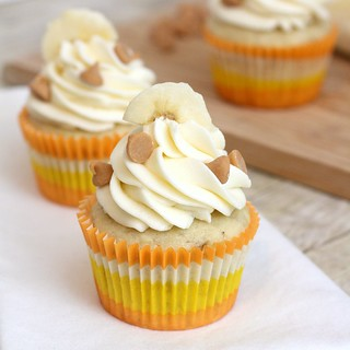 Roasted Banana Cupcakes with Mascarpone Cream Cheese Frosting | by Tracey's Culinary Adventures