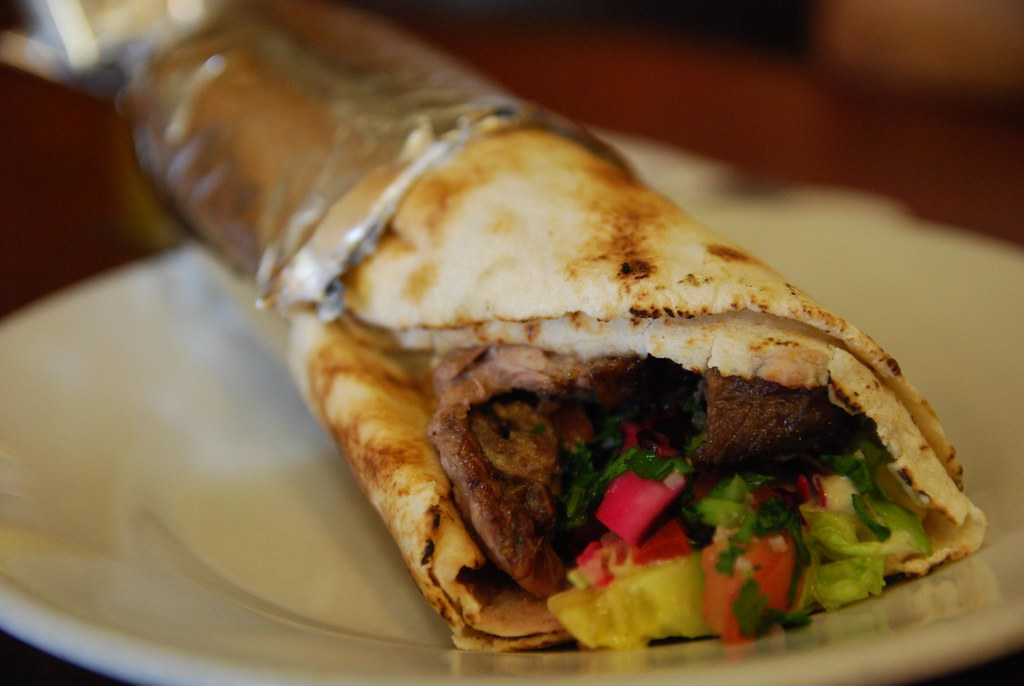 Lamb Shawarma Roll with Hommus - Talk of the Town AUD10.50 ...