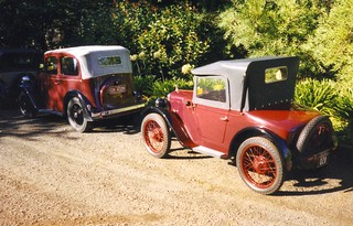 Austin 7 roadster and Pearl 2002 | by darktreezephyr