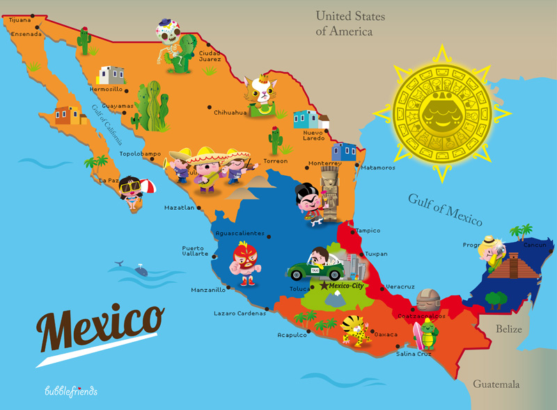 mexico map by bubblefriends mexico map by bubblefriends
