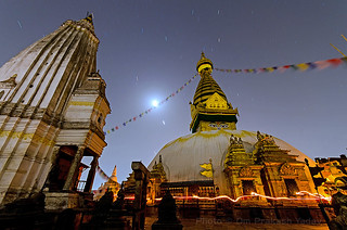 Swayambhunath Stupa in total darkness | by yadavop