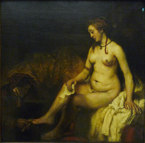 Something Bathsheba at her bath rembrandt something