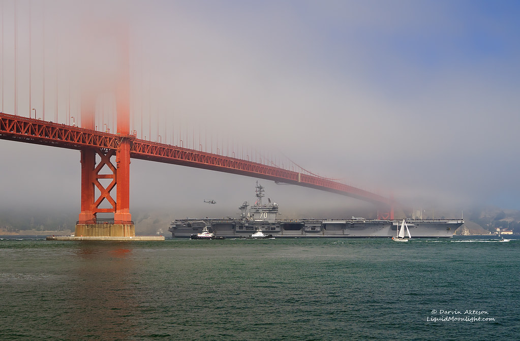 Uss Carl Vinson Clears The Golden Gate Bridge Fleet Week