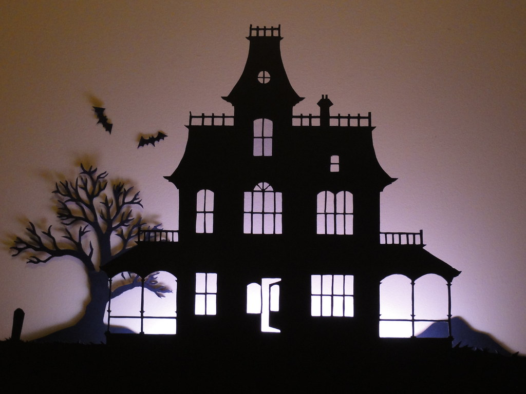 haunted house silhouette for more info see birshykat. Black Bedroom Furniture Sets. Home Design Ideas