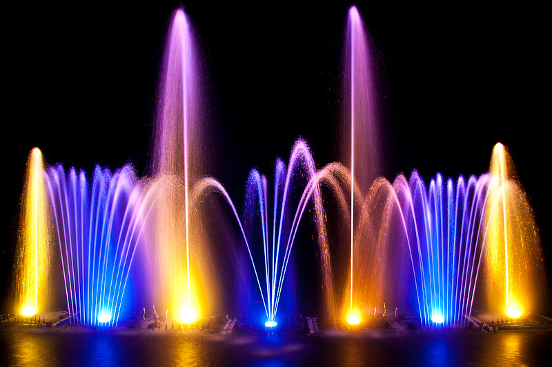 Electric Forest Water Fountain A Long Exposure On A