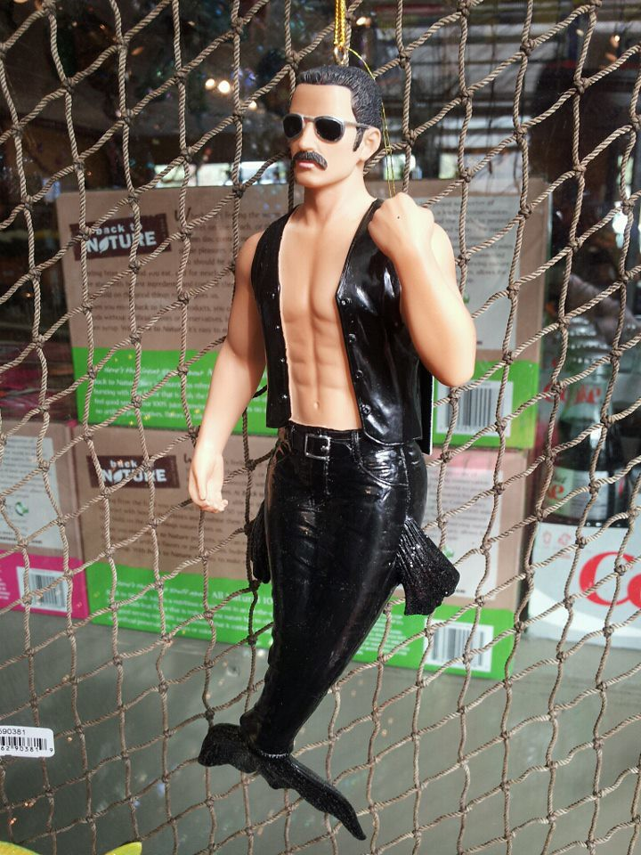 Freddy Mercury Merman Christmas Ornament | Spotted this at S… | Flickr