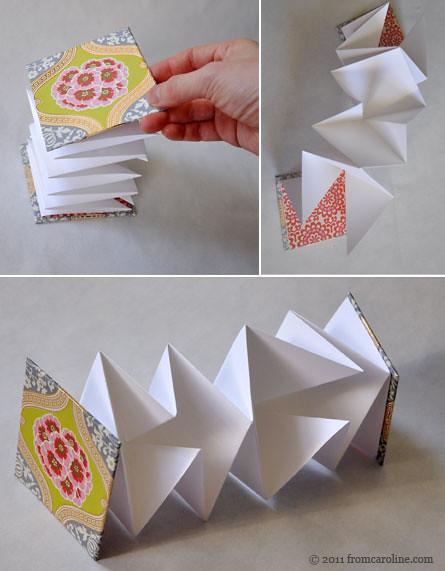 Paper Book Cover Tutorial : Accordian book tutorial fromcaroline flickr