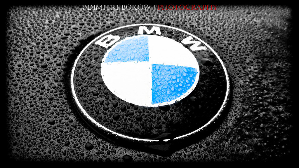 Wet BMW Logo on the hood | Dimitri Bokow | Flickr