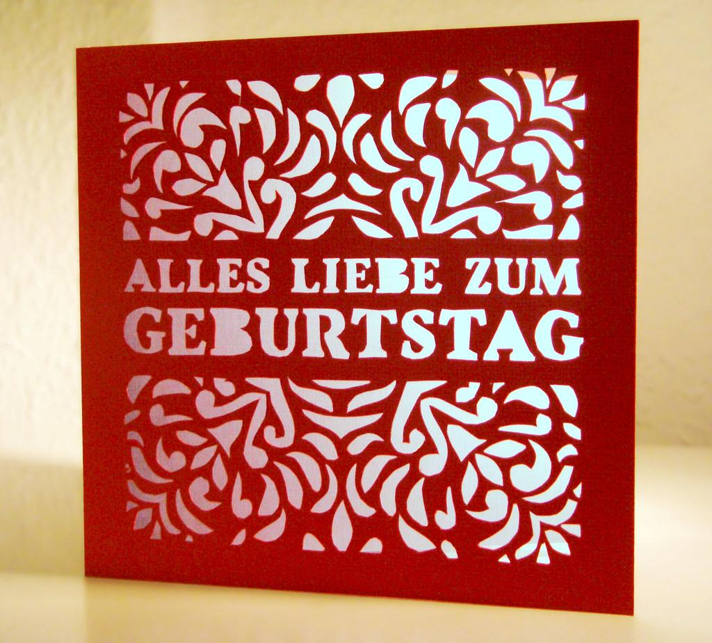 Geburtstagskarte Fur Meine Liebe Oma Hand Cut Red Card Wit Flickr
