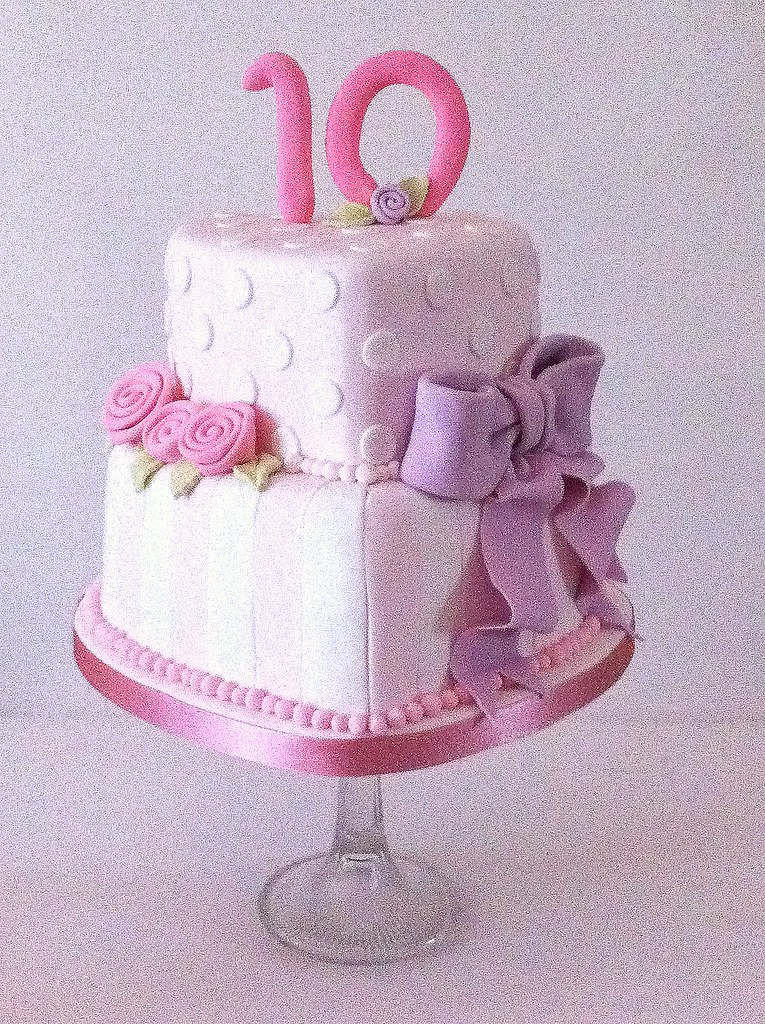 Little Cakes Two Tier Heart Shaped Birthday Cake