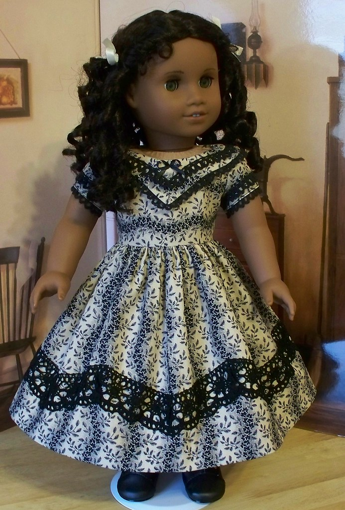 Fancy 1853 Holiday Gown- Made For American Girl Dolls Ceci -7479