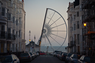 half built brighton ferris wheel #2 | by lomokev