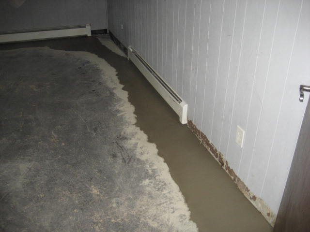 no more wet basement the water is captured and contained