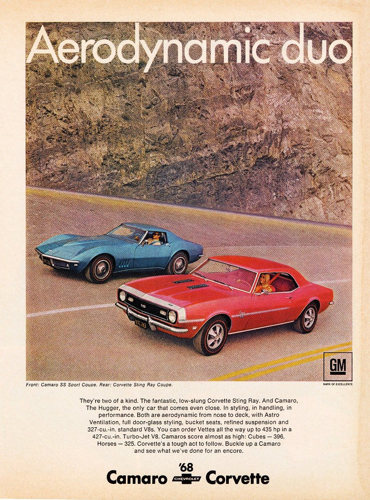 ... 1968 Chevrolet Camaro SS Sport Coupe And Corvette Sting Ray   By  Aldenjewell