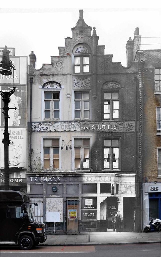 Shoreditch High Street: Now And Then . Shoreditch High Street . London