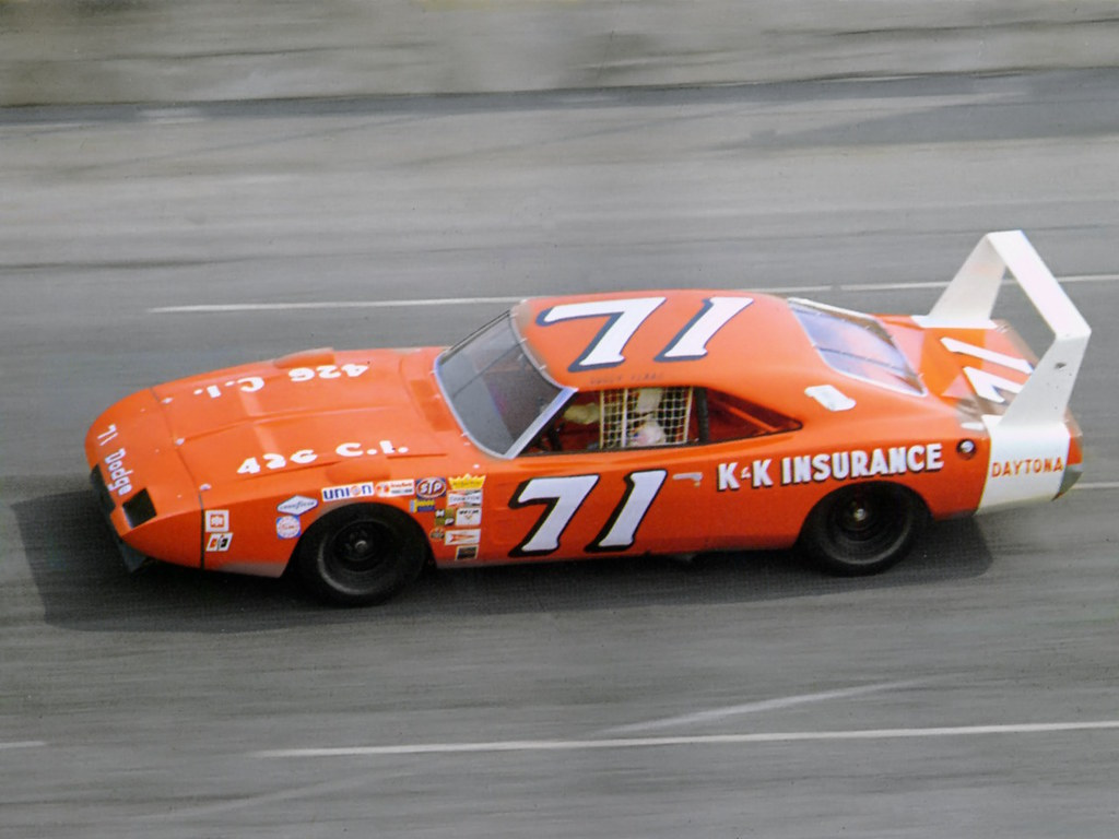1969 Dodge Charger Daytona Nascar Race Car At Speed Driven Flickr