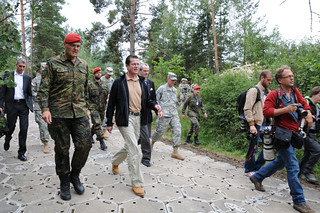 German Secretary of Defense Dr. Karl-Theodor zu Guttenberg visits the Joint Multinational Training Command | by 7th Army Training Command