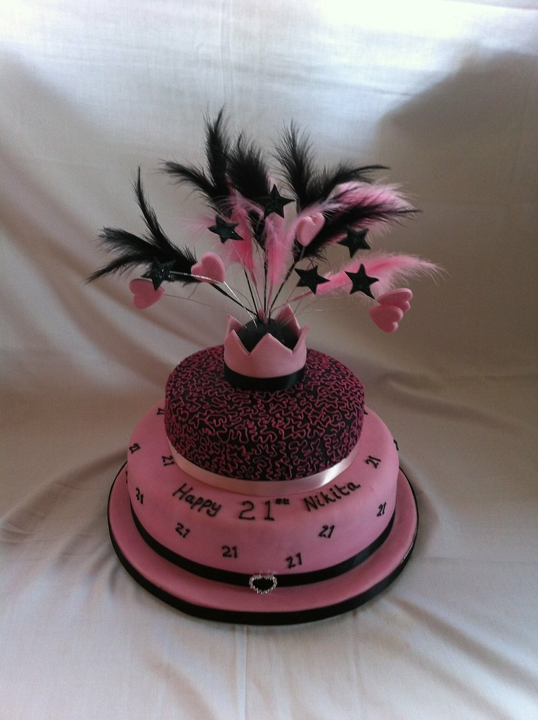 21st Birthday Cake Design For Her : 21st birthday cake -for her Tracy Yapp Flickr