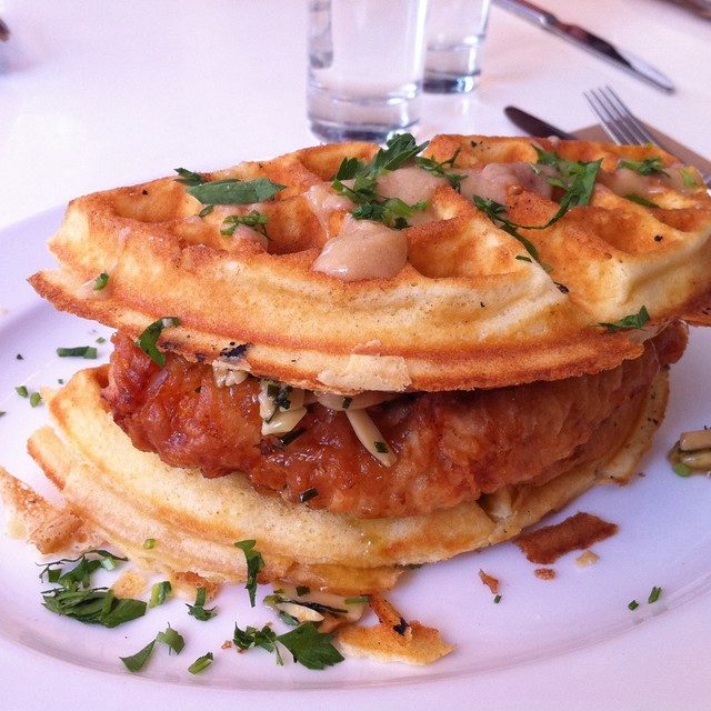 Beer Battered Fried Chicken & Waffles W Almond Butter & Bo… | Flickr ...