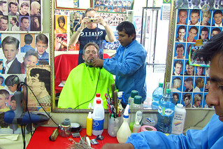 Haircut and shave in La Paz, Boliva | by jdroth