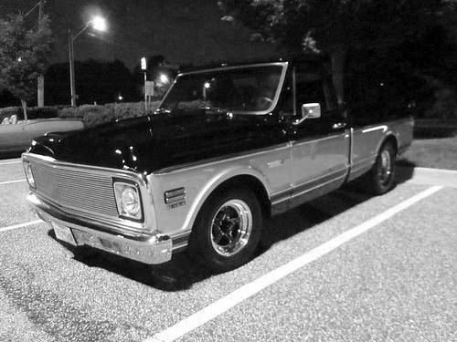 1972 Chevy C10 Cheyenne | The truck is black and silver ...
