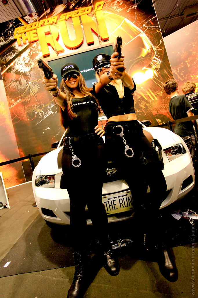 Paris Games Week 2011 Booth Babes Need For Speed The Run