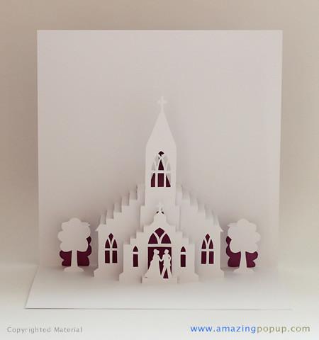 Little Church Wedding Popup Card Www Amazingpopup Com
