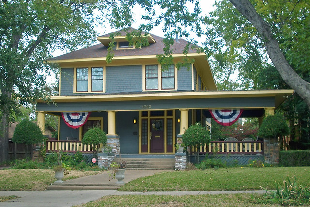 American foursquare style house fairmount ft worth for American house styles