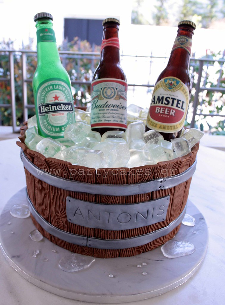 Another Beer Barrel Cake This Time With A Bottle Of Bud