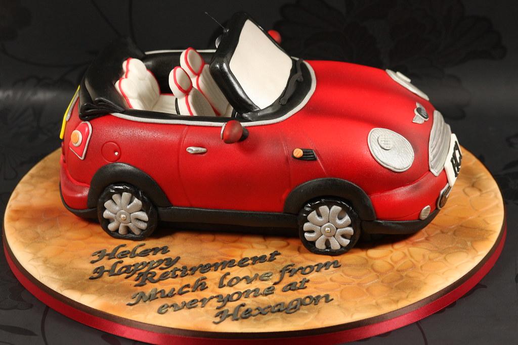 Piping Car Cake