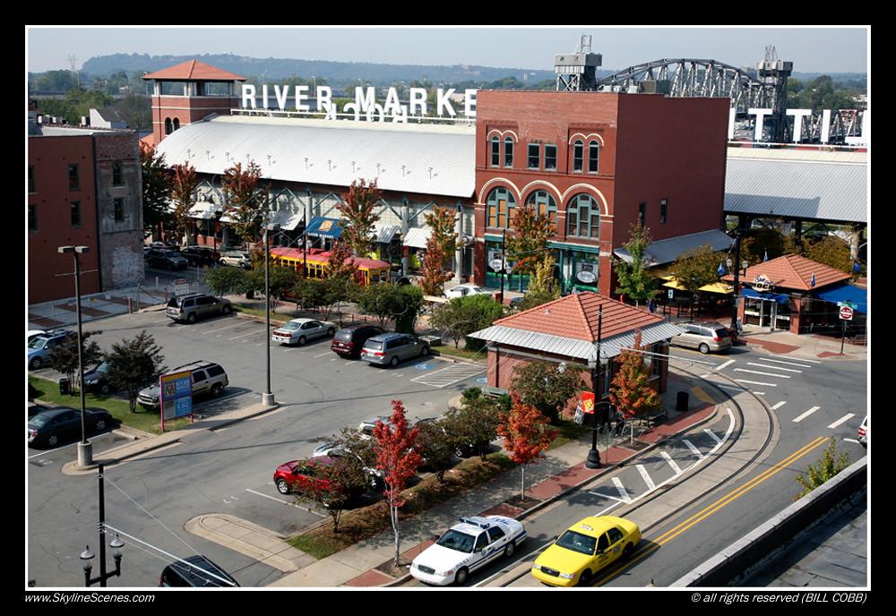 River Market Little Rock Ar Looking Down On River