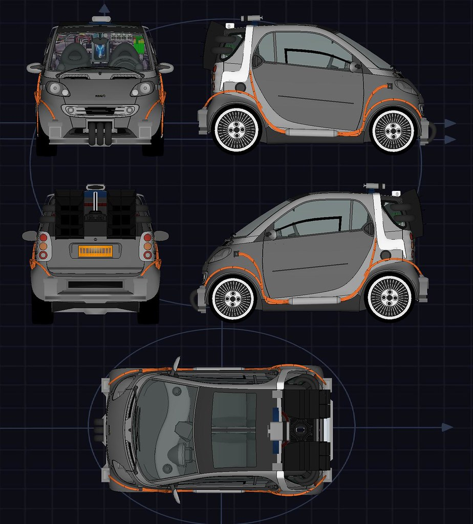 Back to the future smart car blueprints blueprints timedocta back to the future smart car blueprints by timedocta malvernweather Images