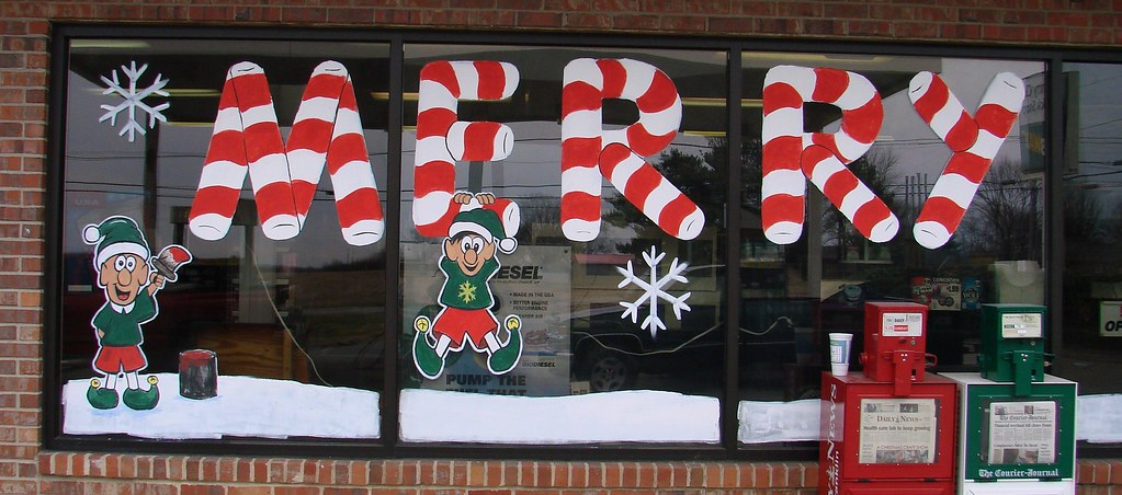 Holiday Window Painting | Flickr