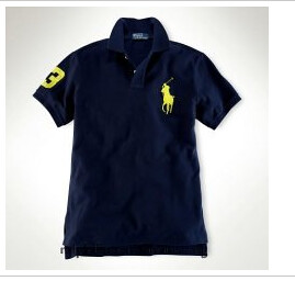 68c18a5b04c95 ... Custom-Fit Neon Big Pony Polo French Navy Citrus Yellow ralph lauren  homme soldes