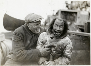 Bob Bartlett and local inhabitant aboard ship during Bartlett's Arctic Expedition, 1933 | by Smithsonian Institution