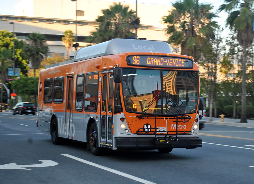 La Metro Local Line 96 Bus Downtown Los Angeles Ca