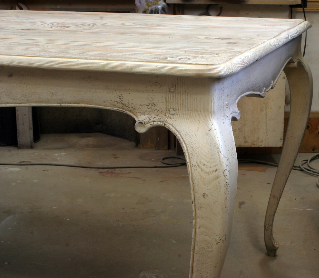... 492 IMG_0298e White Hand Carved French Country Dining Table With  Cabriole Legs | By Www