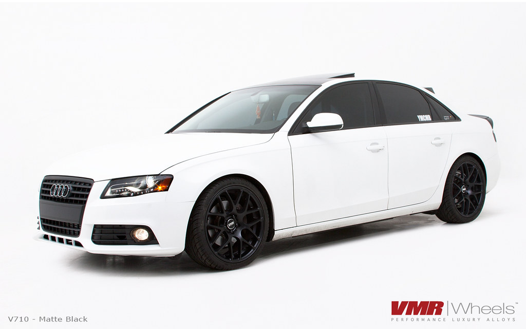 Vmr Wheels 19 Quot Matte Black V710 On B8 Audi Ibis White A4