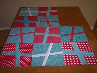 Teal We Meet Again Swap Blocks | by Around the Quilt Block