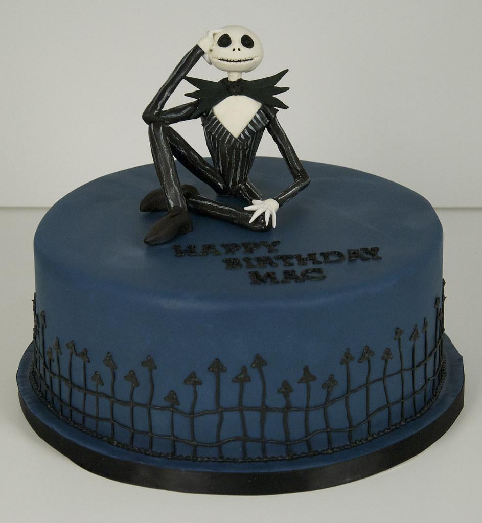 Jack Skellington Cake Toronto A 9 Round 25 Serving Dark Flickr