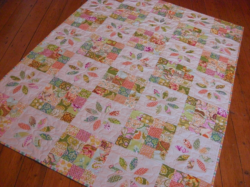organic birch quilts quilt white girls girl acorn coral trail baby teagan pink pin blue