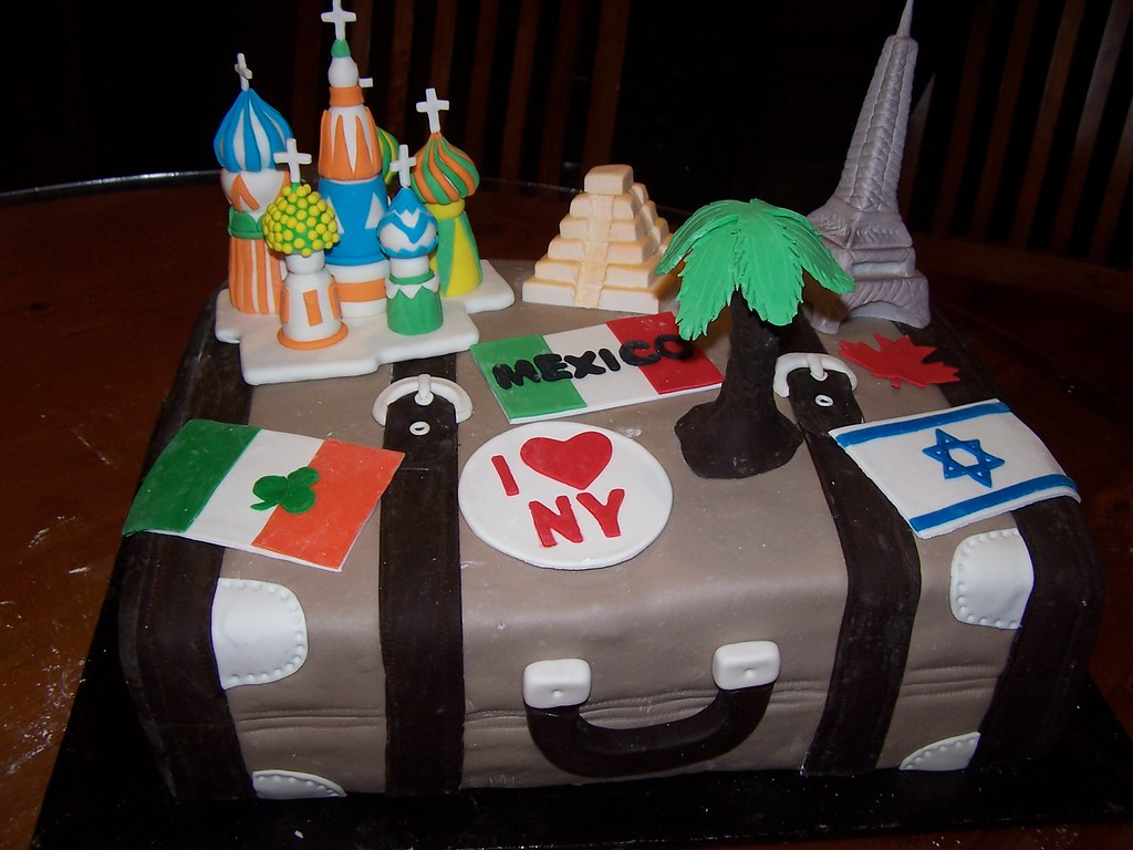 Travel Suitcase Cake I Made This Cake For A 75th