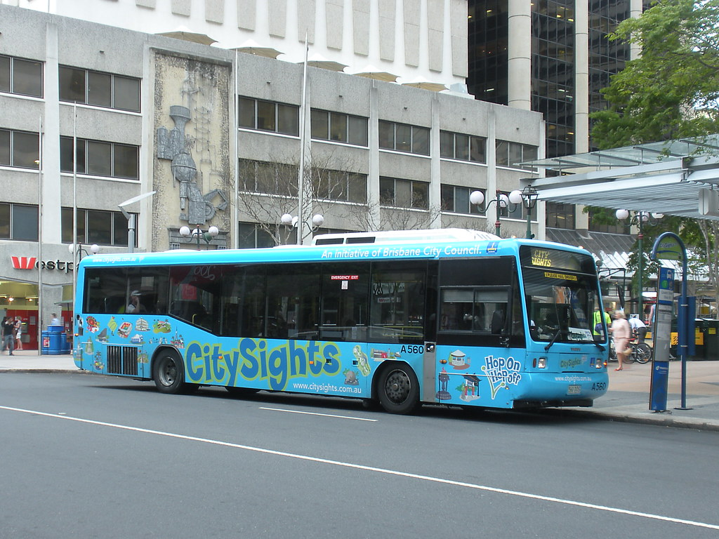 Brisbane Transport City Sights Bus Tour 560 Volvo B10l