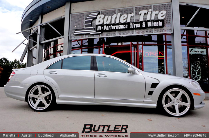Mercedes S550 With 22in Dub 1 Five Wheels Lorinser Fenders