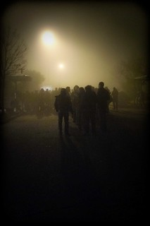 a foggy night outside | by MariannaBolognesi