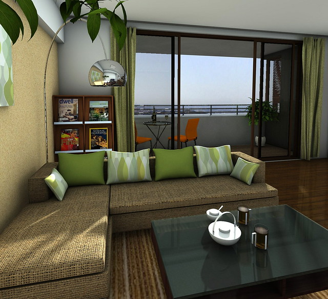 Interior design living room and balcony 12072240 for Living room with balcony interior