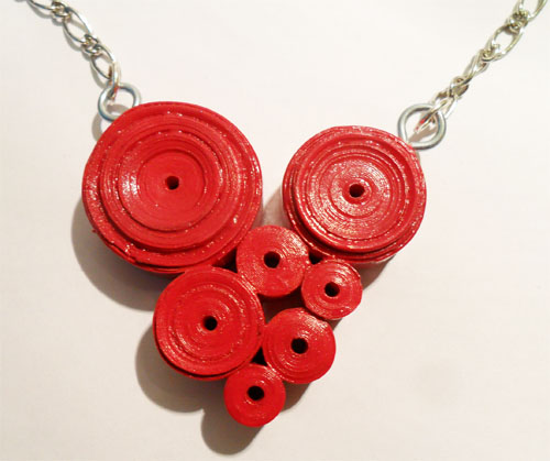 Paper Jewellery Necklace Paper Heart Necklace