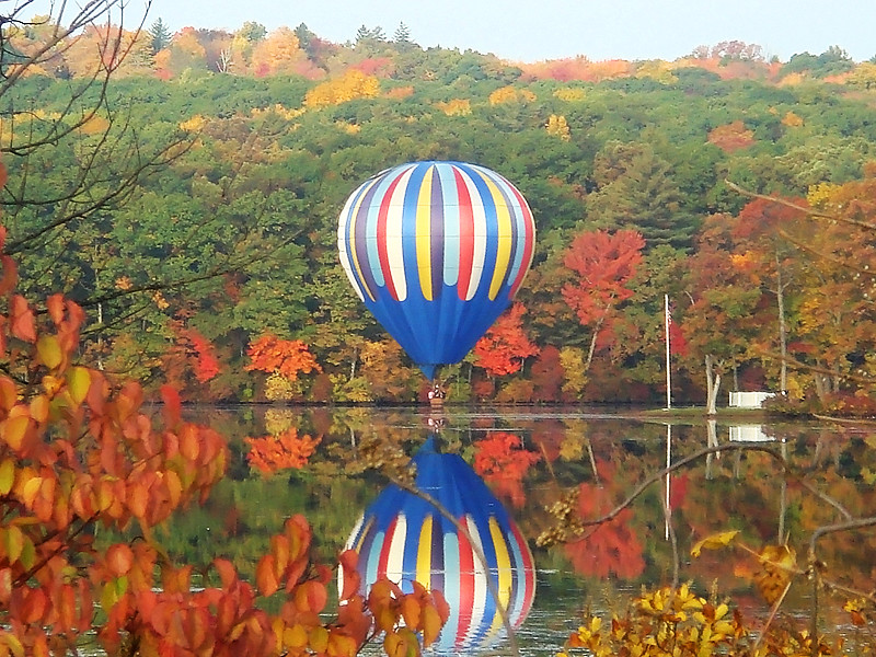 Fall Foliage Balloon Reflection One Of The Main Reasons